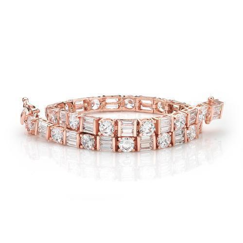Contemporary Tennis Bracelet in Rose Gold