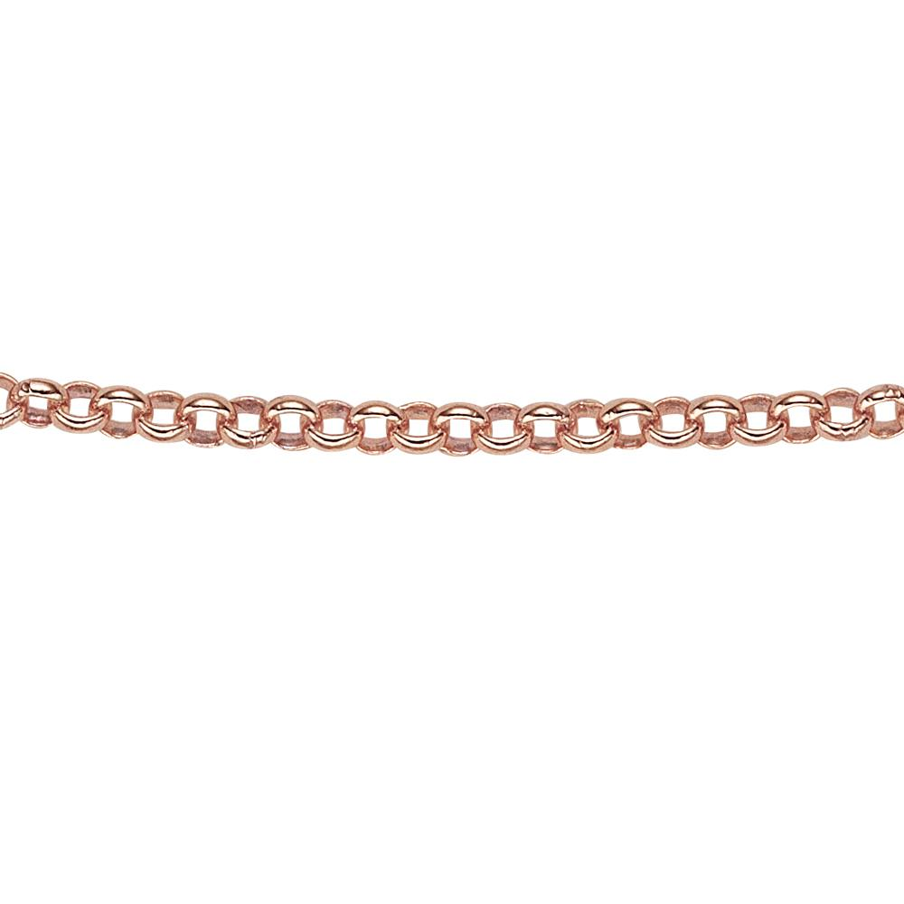 9ct Gold Rolo Chain in Rose Gold