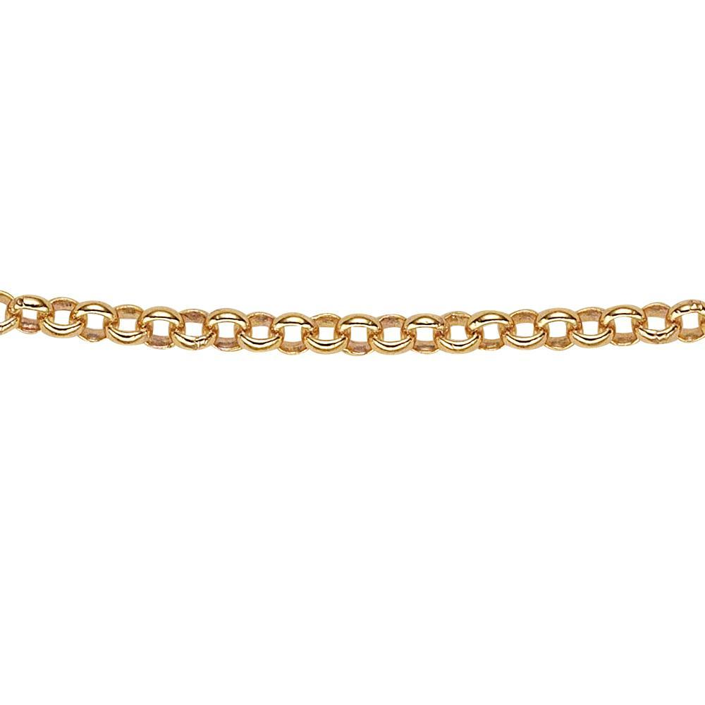 9ct Gold Rolo Chain in Yellow Gold