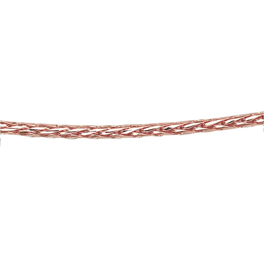 9ct Gold Fine Wheat Chain in Rose Gold