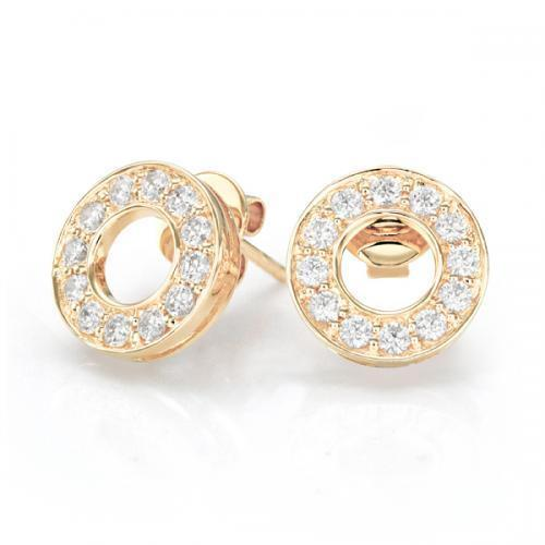 Circle of Life Stud Earrings in Yellow Gold