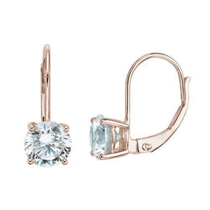 Round Brilliant Cut Claw Set Gift Set in Rose Gold w/ White Gold Setting