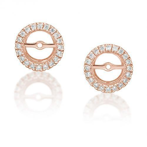Halo Earring Enhancer in Rose Gold