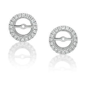 4 Claw Round Brilliant Stud and Halo Enhancer Set in White Gold