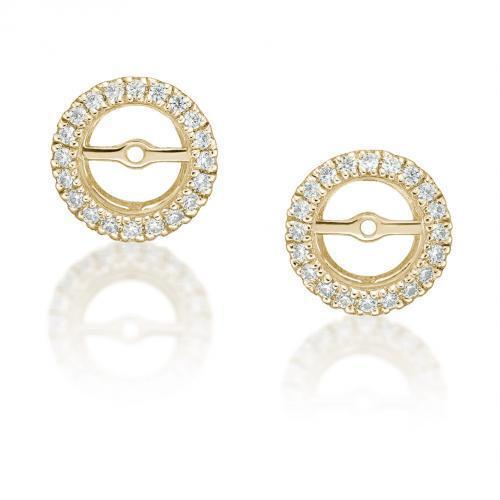 Halo Earring Enhancer in Yellow Gold