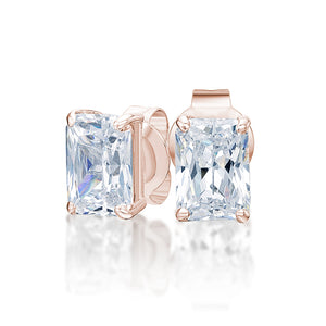 Radiant Cut Solitaire Gift Set in Rose Gold