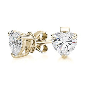 Heart Cut Solitaire Gift Set in Yellow Gold