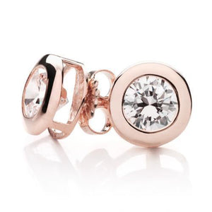 Round Brilliant Bezel Gift Set in Rose Gold