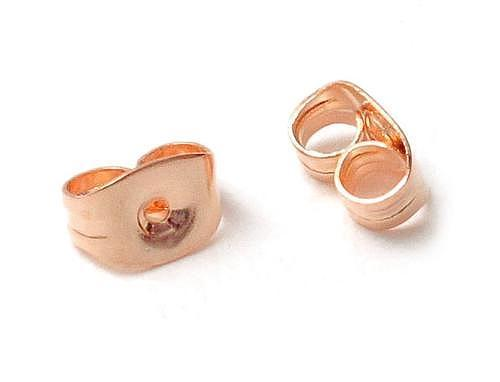 10ct Gold Earring Backs in Rose Gold