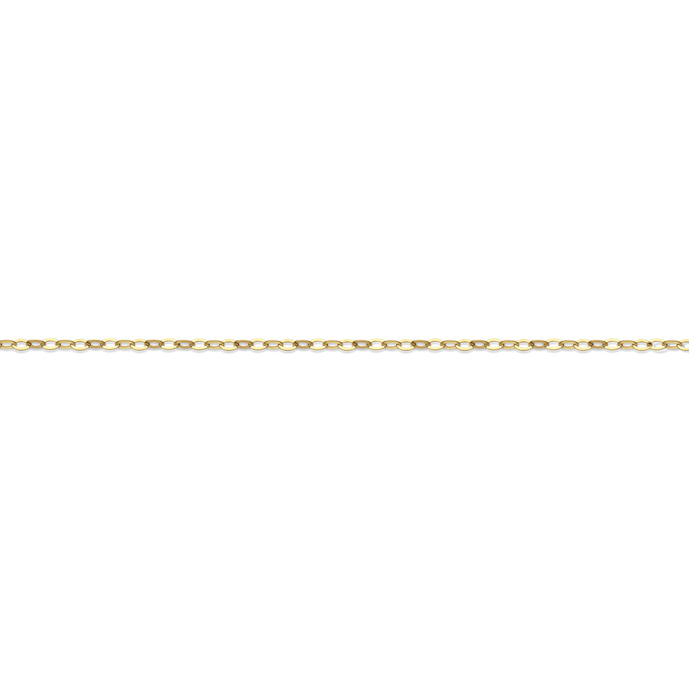 10ct Gold Open Round Rolo Chain in Yellow Gold