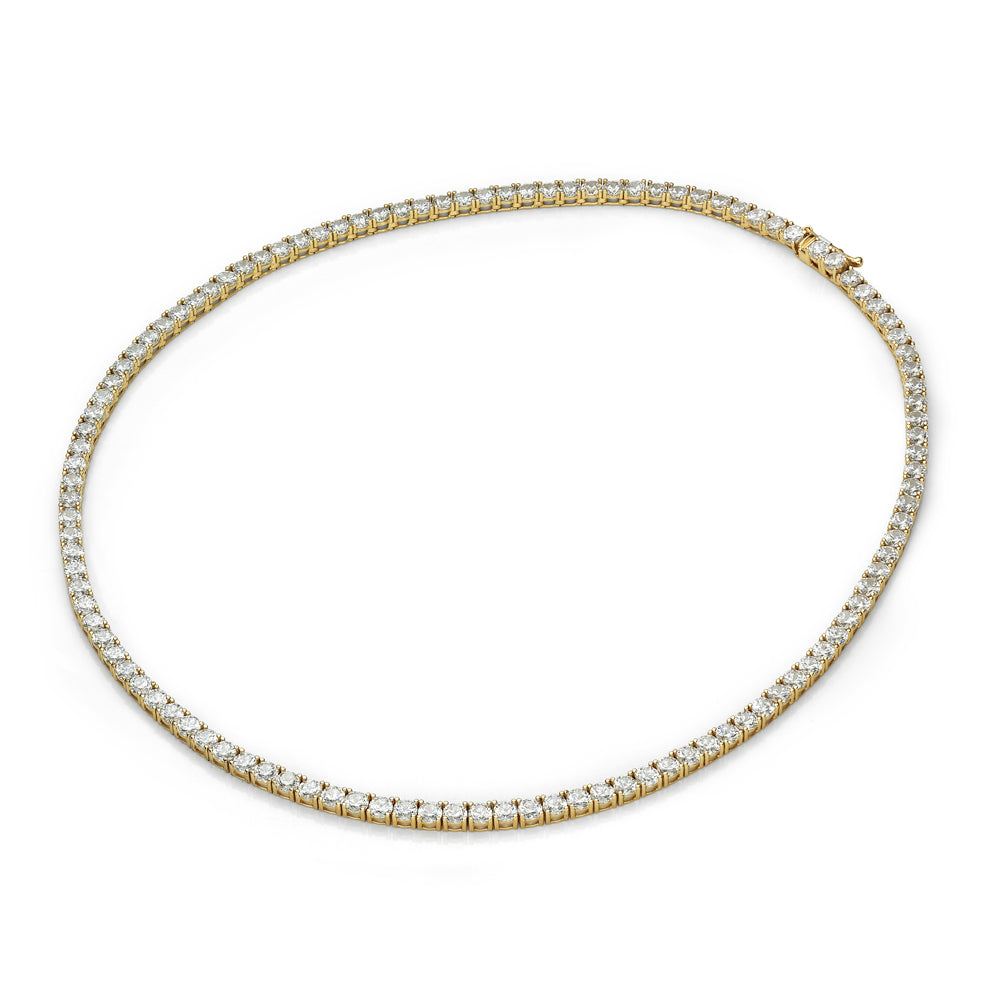 Round Brilliant Necklet in Yellow Gold