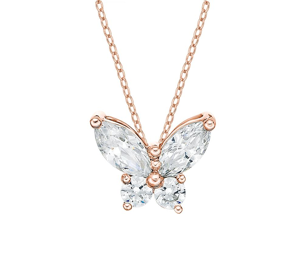 Butterfly Pendant in Rose Gold