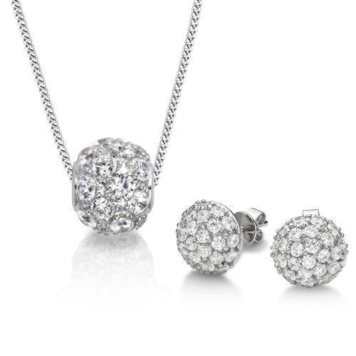 Sterling Silver Micro Pave Gift Set in Sterling Silver