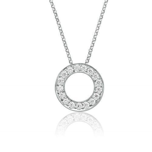 Circle of Life Pendant Small in White Gold