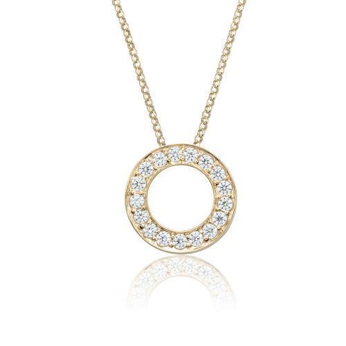 Circle of Life Pendant Small in Yellow Gold
