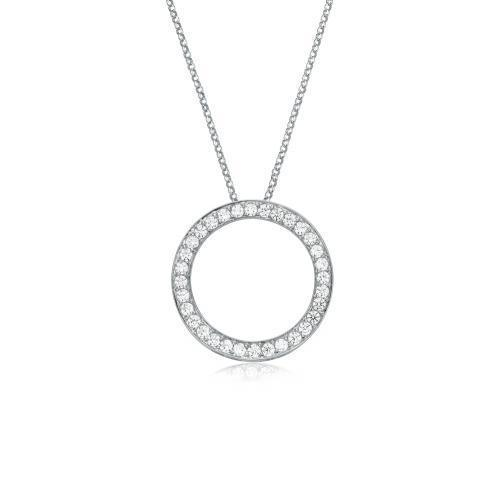 Circle of Life Pendant Medium in White Gold