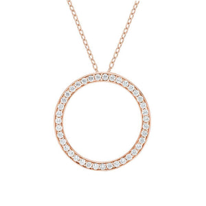 Circle Key Pendant Gift Set in Rose Gold