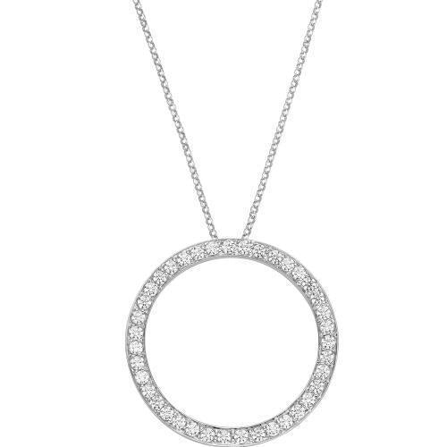 Circle of Life Pendant Large in White Gold