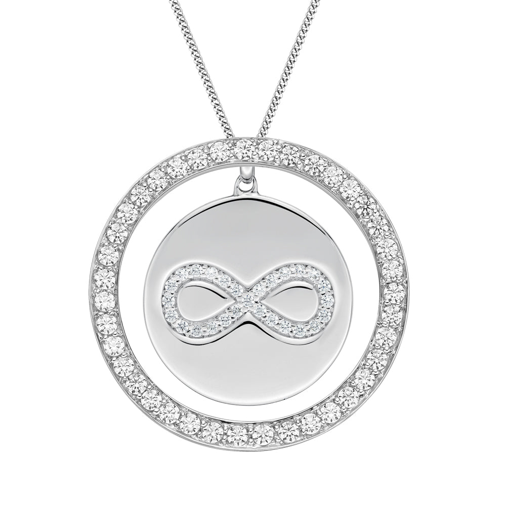 Circle Infinity Pendant Gift Set Sterling Silver