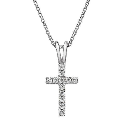 Cross Pendant in White Gold