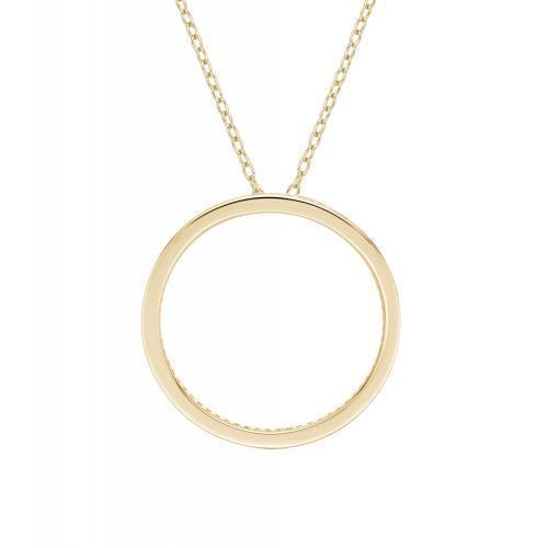 Circle of Life Unique Edge Set Pendant in Yellow Gold