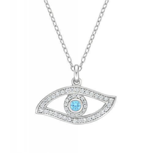 Eye Pendant in White Gold