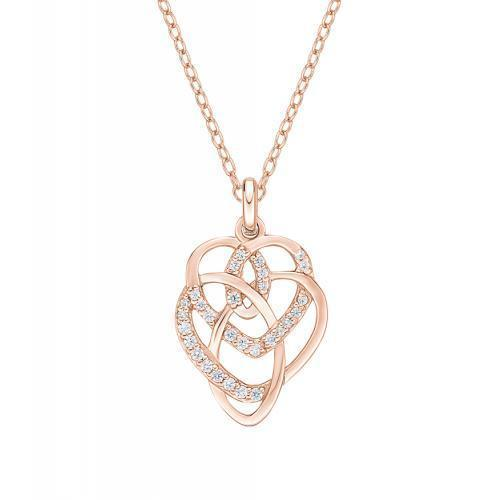 Mother and Child Pendant in Rose Gold