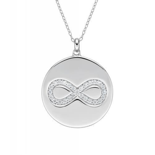 Sterling Silver Infinity Disc Pendant in Sterling Silver