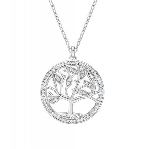 Tree of Life Pendant in White Gold