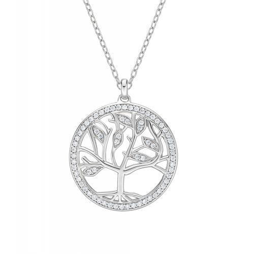 Tree of life pendant in white gold engagement rings wedding bands tree of life pendant in white gold aloadofball Image collections