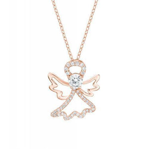 Angel Circle of Life Pendant Gift Set in Rose Gold