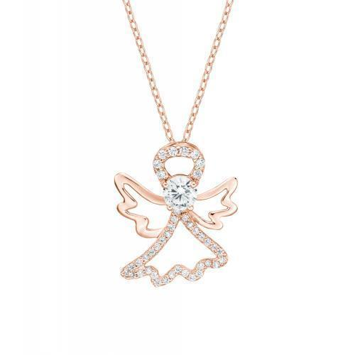 Guardian Angel Pendant in Rose Gold