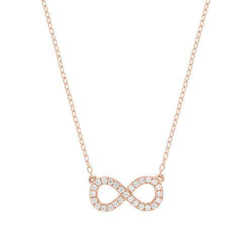 Minimal Infinity Necklace Rose Gold