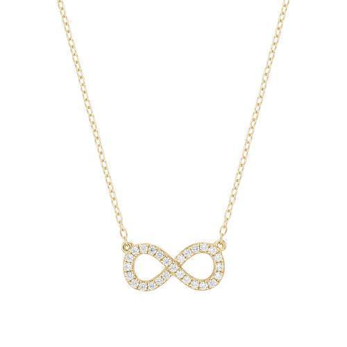 Minimal Infinity Necklace in Yellow Gold