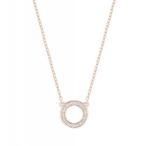 Minimal Circle of Life Necklace in Rose Gold
