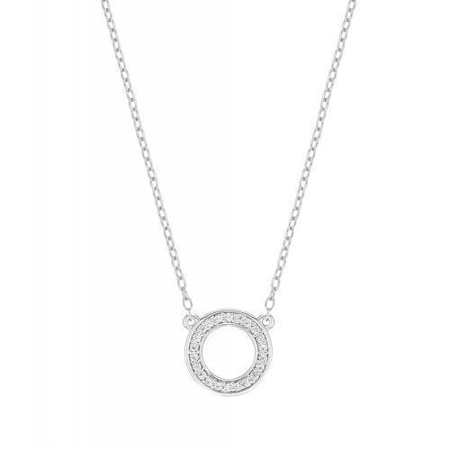 Minimal Circle of Life Necklace in White Gold