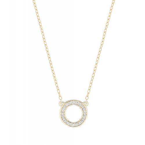 Minimal Circle of Life Necklace in Yellow Gold