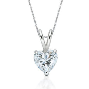 Heart Cut Solitaire Gift Set in White Gold
