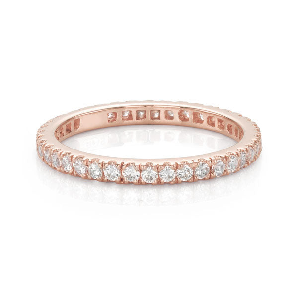 Claw Set All-Rounder Ring in Rose Gold