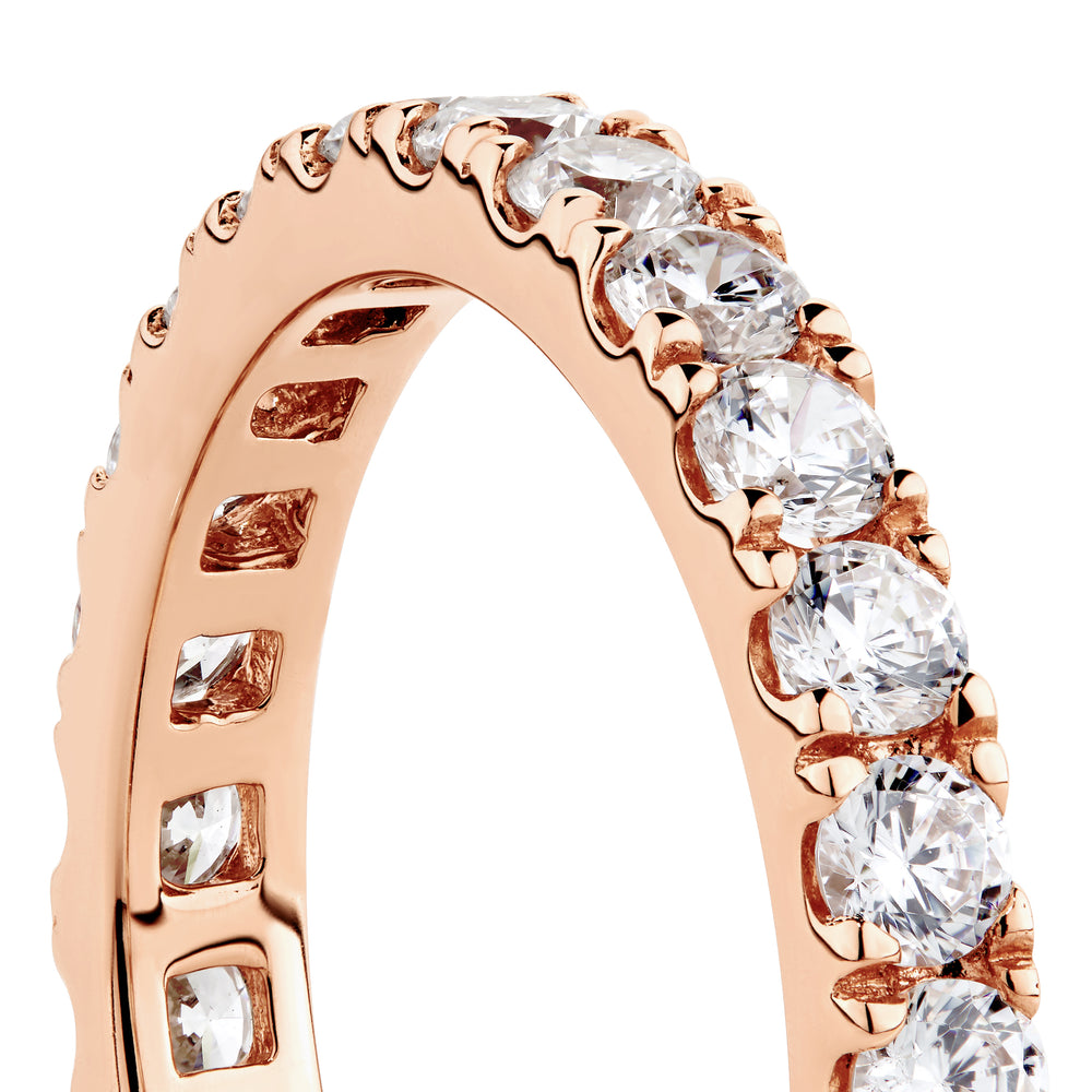 Round Brilliant All-Rounder Ring in Rose Gold