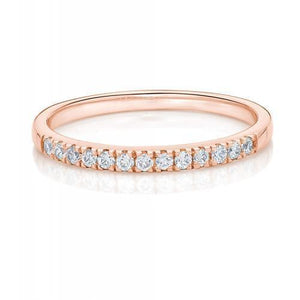 Round Brilliant Cut Band in Rose Gold