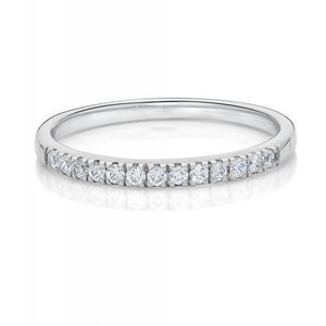 Round Brilliant Cut Band in White Gold