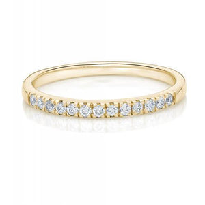 Round Brilliant Cut Band in Yellow Gold