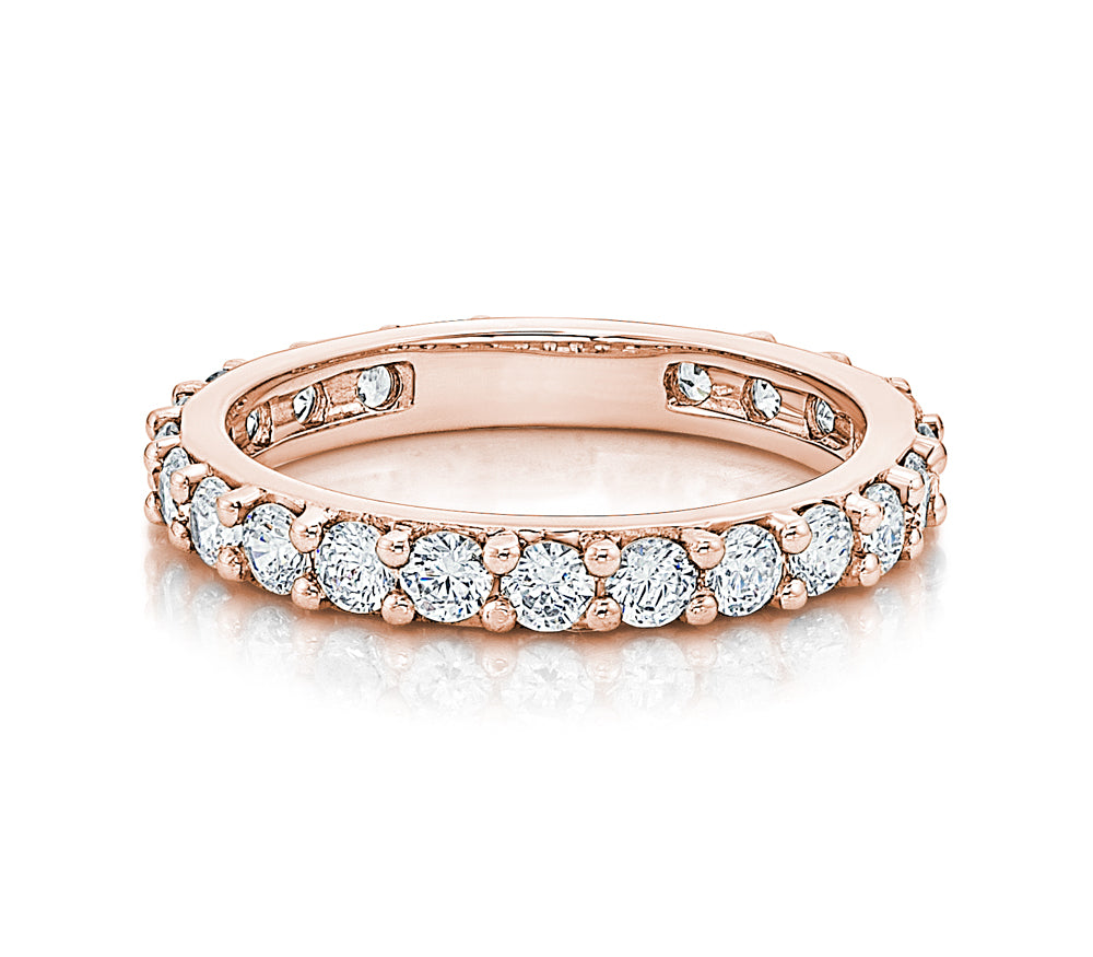 Claw Set Round Brilliant All-Rounder Ring in Rose Gold