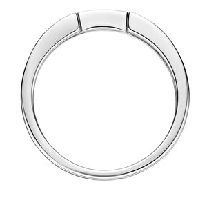 Cut-Out Wedding Band in White Gold