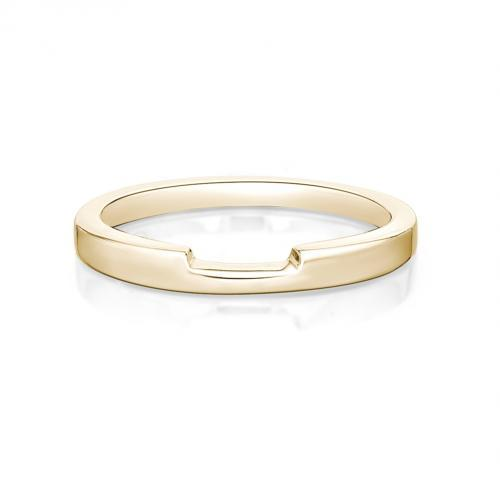 Cut-Out Plain Wedding Band in Yellow Gold
