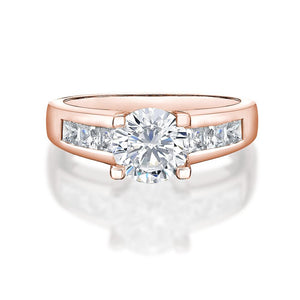 Brilliant Cut Engagement Ring in Rose Gold