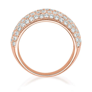 Pave Dress Ring in Rose Gold