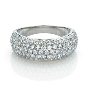 Pave Dress Ring in White Gold