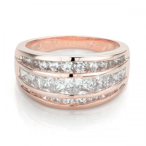 Stunning Channel Set Band in Rose Gold